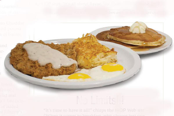 Country fried steak & eggs: 1,760 calories.
