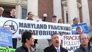 Environmental activists pushing fracking moratorium