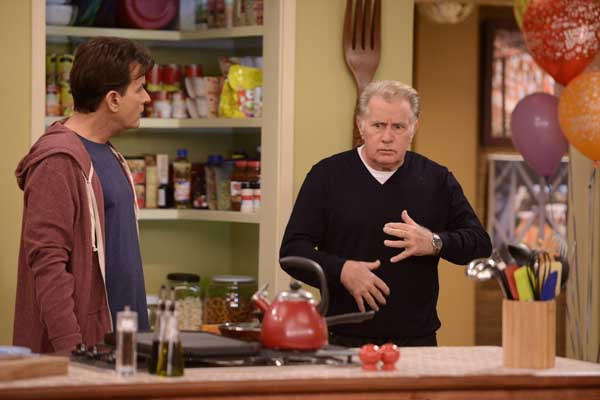 Tempers flare as ¿Anger Management returns with two new episodes at 9 and 9:30 p.m. on FX. With Charlie Sheen, left and Martin Sheen.