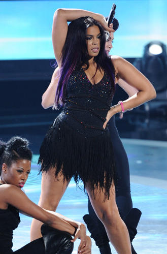 Jordin Sparks performs on American Idol.