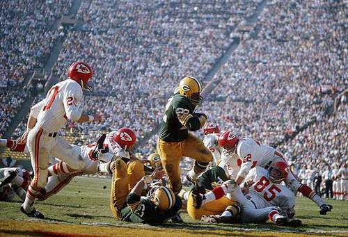 Green Bay Packers 35, Kansas City Chiefs 10<br> <br> Los Angeles Memorial Coliseum, Los Angeles, CA