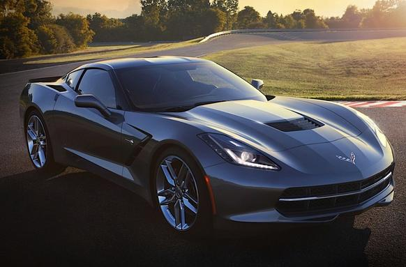 Bidders will have a chance to buy the first 2014 Corvette Stingray at the Barrett-Jackson auction Saturday in Scottsdale, Ariz. The winner won't get the car seen here; instead they'll get to customize it before it rolls off the assembly line in late summer.