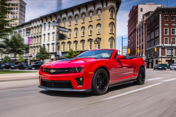 GM says this car is the first Camaro ZL-1 Convertible it made. It will be auctioned off to benefit Achilles International.