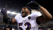 Ray Lewis' trademark instincts kicked in again Saturday, a display of football savvy punctuated by the Ravens inside linebacker slamming Denver Broncos rookie running back Ronnie Hillman to the ground.