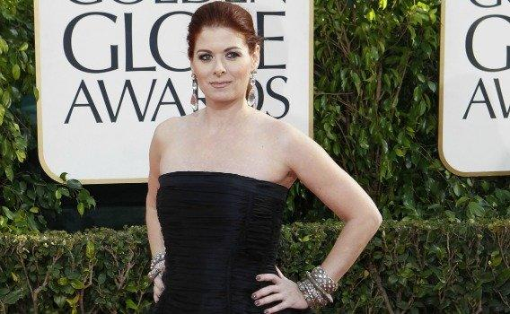 Debra Messing arriving for the Golden Globe Awards ceremony at the Beverly Hilton Hotel in January.