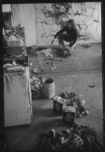American painter Joan Mitchell (1925-1992), whose works are on display at Zoellner Arts Center, Lehigh University, in Joan Mitchell: An American Master, through May 19.