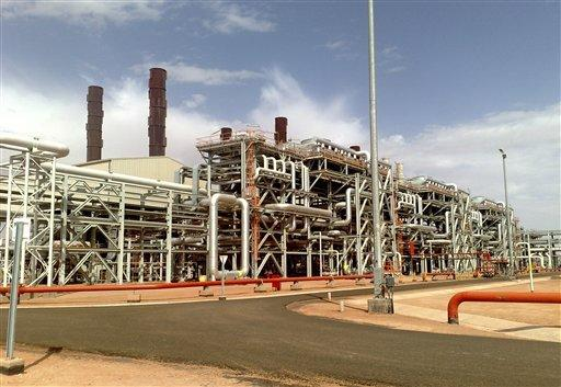 The Amenas natural gas field in the eastern central region of Algeria, where Islamist militants took hostages during a raid Wednesday.