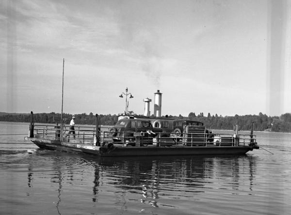 The Ironton Ferry has been taking vehicles across the south arm of Lake Charlevoix since 1927.