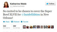 Katherine Webb will cover Super Bowl for 'Inside Edition'