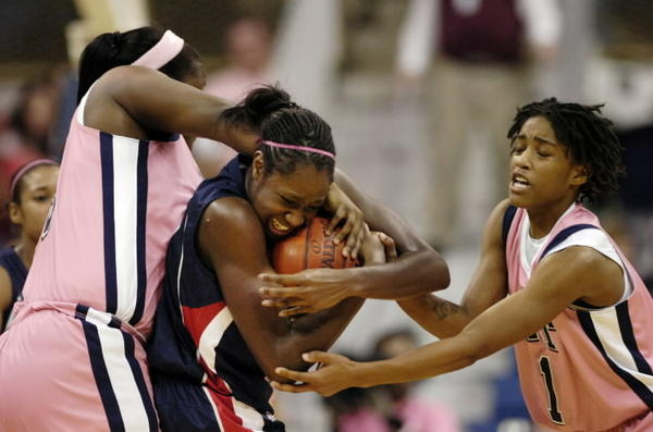 UConn Women's Basketball wins their fourteenth Big East Championship. Tina Charles wrestles for the ball during a regular season match-up against Pitt.
