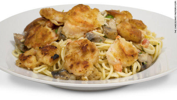 The Cheesecake Factory's bistro shrimp pasta comes in at 3,120 calories, 89 grams of saturated fat and 1,090 milligrams of sodium, according to the Center for Science in the Public Interest.