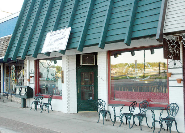 "Charlevoix Courier/file A request by Scovies, at 111 Bridge St., to participate in a state program that allows special class C liquor licenses in downtown ""redevelopment zones"" what behind the city's recently-approved allowing the special licenses."