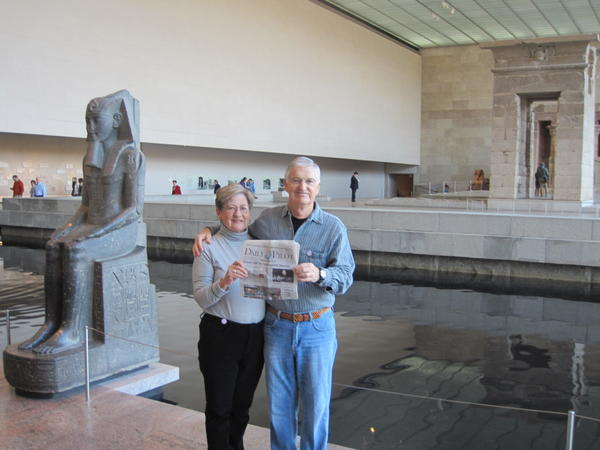 Jane and Rich Gallup of Costa Mesa at NYC Metropolitan Museum of Art in December.