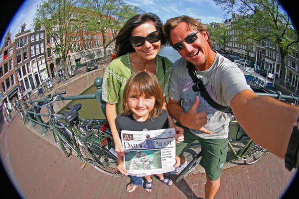 The Voorhees family of Newport Beach returns to their homeland, Amsterdam.