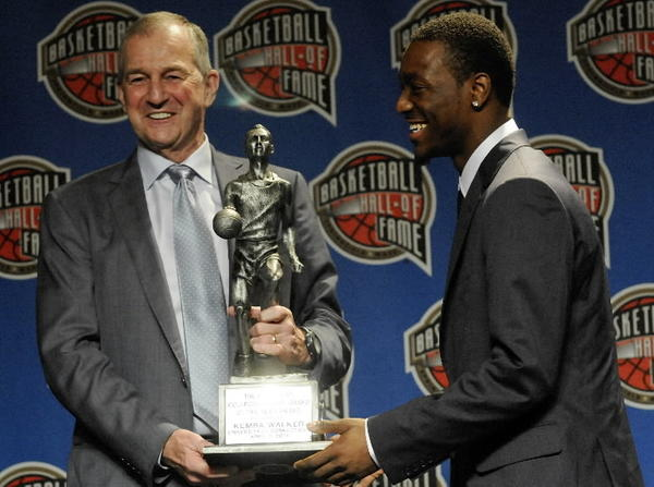 In 2011 Kemba Walker received the Bob Cousy award. The Cousy awards is given to the top point guard in the country. Later that year Kemba graduated from UConn and entered the NBA draft where he was drafted by the Charlotte Bobcats.