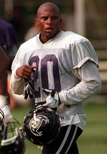 Former Ravens safety Kim Herring in 1998