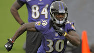Running back <strong>Bernard Pierce</strong> (knee) and cornerback <strong>Asa Jackson </strong>(thigh) were the only Ravens not participating in the early portion of Thursday's practice open to reporters.