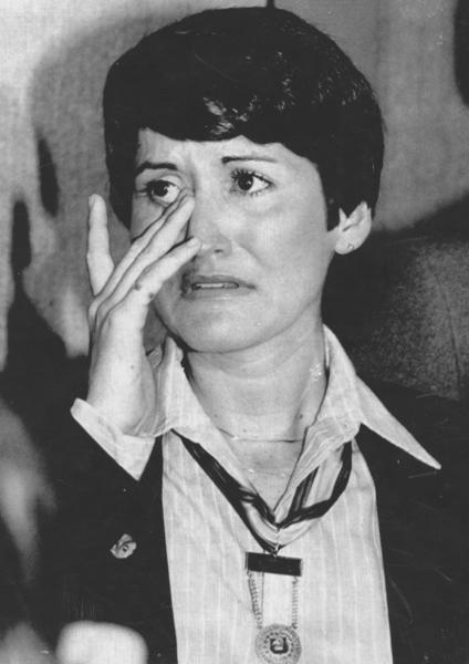 Sports Scandals Through The Years: 04/24/80 - New York: Runner Rosie Ruiz breaks into tears as she denies she cheated to become the top woman finisher in the Boston Marathon. Im not guilty, Miss Ruiz said. Shes wearing her winners medal.