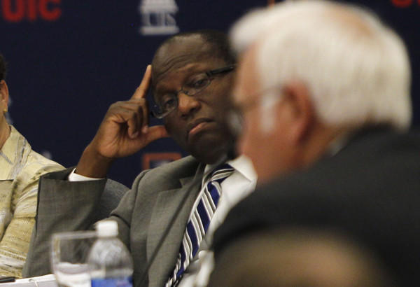 Lawrence Oliver II at a University of Illinois Board of Trustees meeting in Chicago in July 21, 2011.