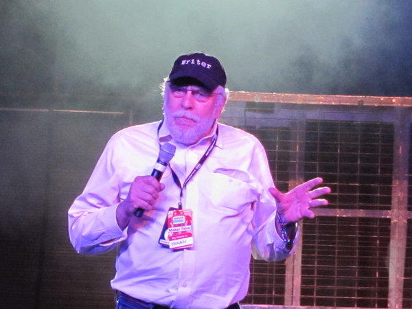 Atari founder Nolan Bushnell speaking at the Maker Faire in 2011.