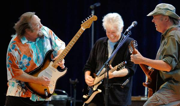 Stephen Stills and Graham Nash (pictured left to right) will team with David Crosby for two shows in Central Florida.