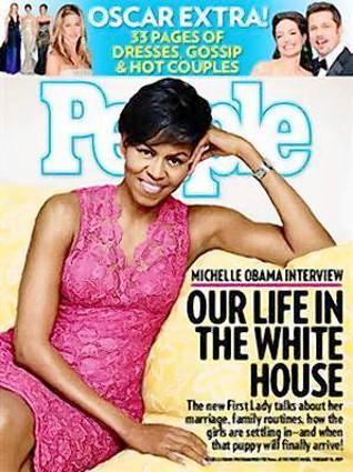 First lady Michelle Obama was featured on the cover of People magazine in February 2009, in a sleeveless dress. It was one that quelled a separate fashion complaint: that Obama had not worn a dress by an African-American designer. The deep-pink lace confection was by Tracy Reese, a more moderately priced designer, who is black. The dress retailed for $395 at tracyreese.com.