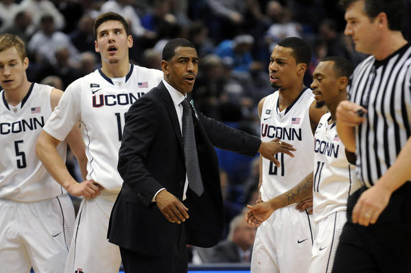 "Goes to coach Kevin Ollie - ""We're going to take the stairs. Escalators are for cowards."""