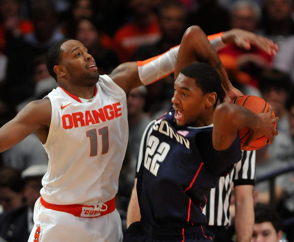 Syracuse comes to town on Feb. 13 for a final meeting as a conference rival. When last UConn faced the Orange, 'Cuse came away with a 58-55 win in the Big East tournament on March 8, 2012.