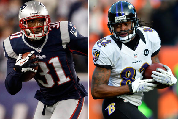 Smith has had two strong games against New England going back to last year's AFC championship. Talib has helped to improve the Patriots¿ coverage and he is regarded as a shutdown corner. Regardless, he'll need help with Smith, both on the long ball and short passes. <br>