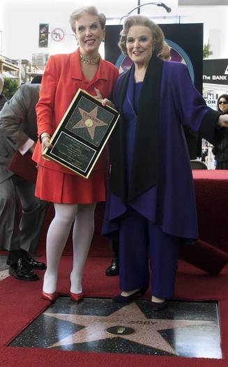 Pauline Phillips, also known as advice columnist Dear Abby, and her daughter Jeanne Phillips as they receive star on Hollywood Walk of Fame in Hollywood
