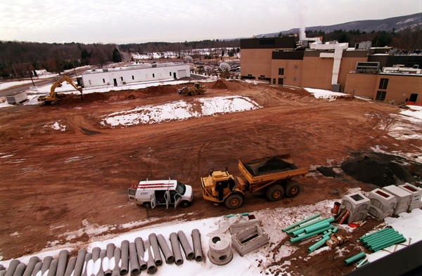 Construction of the first digital center at ESPN in Bristol.