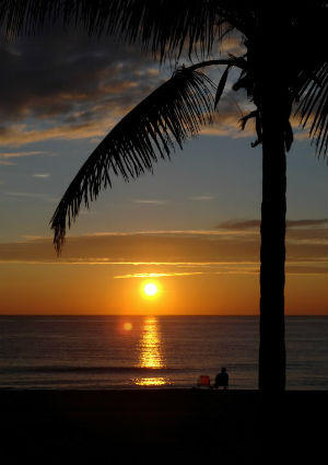Sunrise as seen from Fort Lauderdale's beach.