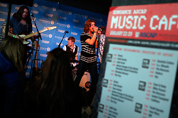 The band 2 a.m. Club performs at the Sundance ASCAP Music Cafe on Main Street in Park City, Utah on Sunday. Artists such as the Fray, Richard Marx and LeAnn Rimes will play the club during the film festival.