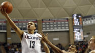 Junior Shabazz Napier has never missed a game at UConn, but the pain in his left shoulder, the result of a hard fall against Louisville on Monday night, could change that.