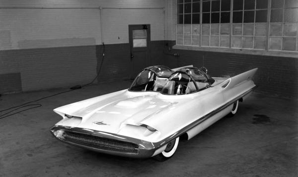 The one-of-a-kind 1955 Lincoln Futura concept car was originally created by a design team at Ford Motor Co.'s Lincoln styling department.