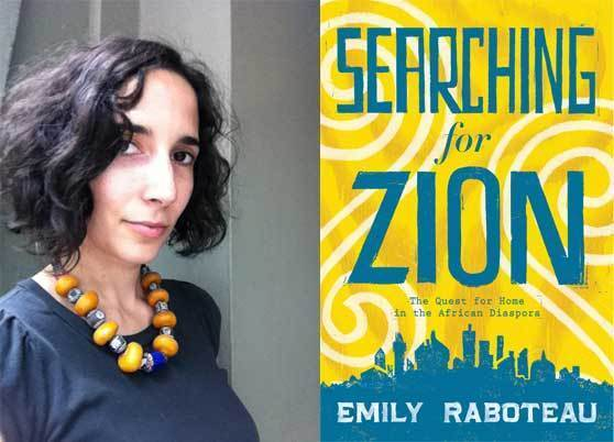 "Author Emily Raboteau and the cover of her new book, ""Searching for Zion""."