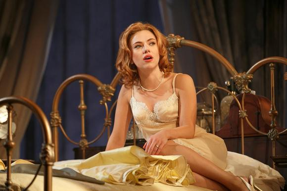 Scarlett Johansson in Cat on a Hot Tin Roof.