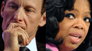 What time is Lance Armstrong's interview with Oprah Winfrey?