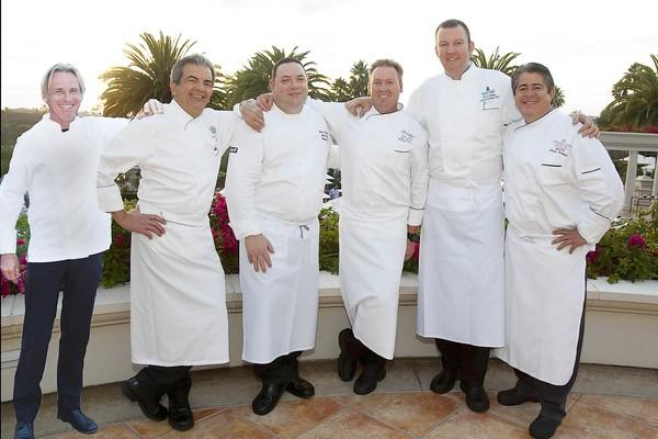 Executive Chef Pierre Albaladejo, Park Hyatt Aviara Resort; Executive Chef Frederic Castan, St. Regis Monarch Beach Resort & Spa; Banquet Chef Michael Doyle, Balboa Bay Club & Resort; Executive Chef Rob Wilson, Montage Laguna Beach; Executive Sous Chef Chris Johnson, Ritz-Carlton, Laguna Niguel; and Executive Chef Erasmo Rodriguez, Laguna Cliffs Marriott Resort & Spa will all support the Ocean Institute's Jazz Festival on Feb. 22, 23 and 24.