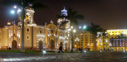 The Plaza Mayor is in the heart of the historical center of Lima, Peru.