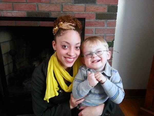 American Idol contestant Ashlee Feliciano of East Hartford poses with her brother, Aedan.