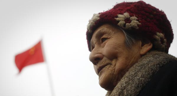 Li Shufeng, 89, attends a ceremony to observe the 75th anniversary of the Nanking Massacre. Shufeng is a survivor of the massacre.