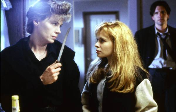 "Rebecca Nelson, left, Adrienne Shelly and Martin Donovan in the 1990 movie ""Trust."""