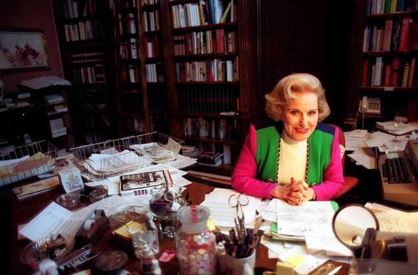 Pauline Friedman Phillips, shown in her Beverly Hills office, wrote the world's most widely syndicated column.