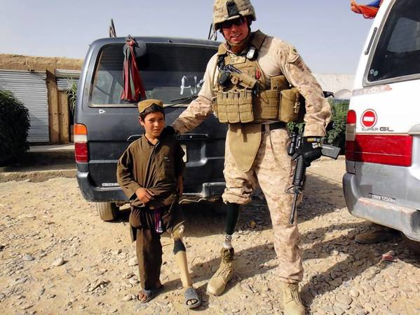Kutztown grad and US Marine David Borden, who lost a leg and nearly lost his life in a bombing in Iraq, only to return to active duty in Afghanistan, will receive the NCAA's Inspiration Award Friday in Texas.