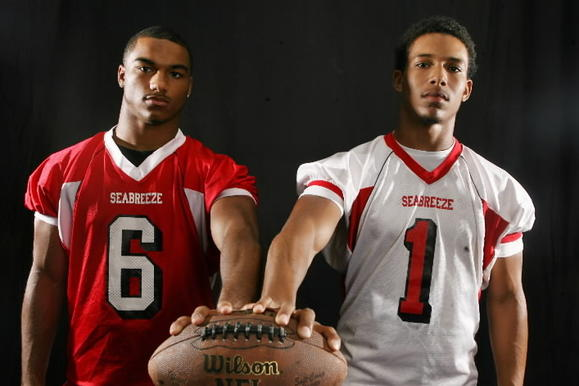 Seabreeze players Charles Nelson and Trey Rodriguez, photo