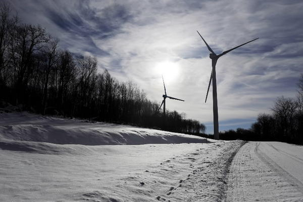 "Baltimore area households have a variety of ""green"" electricity plans to choose from, which rely on power from wind projects like this one in western Maryland."