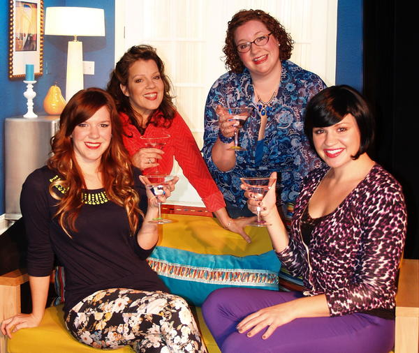 "Sarah Hester Ross (from left), Angie McKnight, Jacinda Rose Swinehart and Laura Wright star in ""The D*Word: The Musical."""