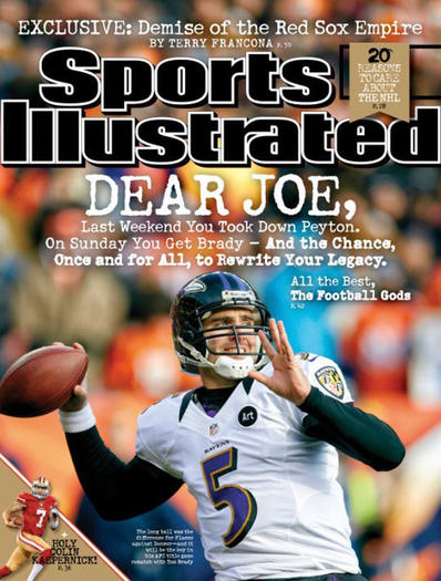 Flacco's Sports Illustrated cover