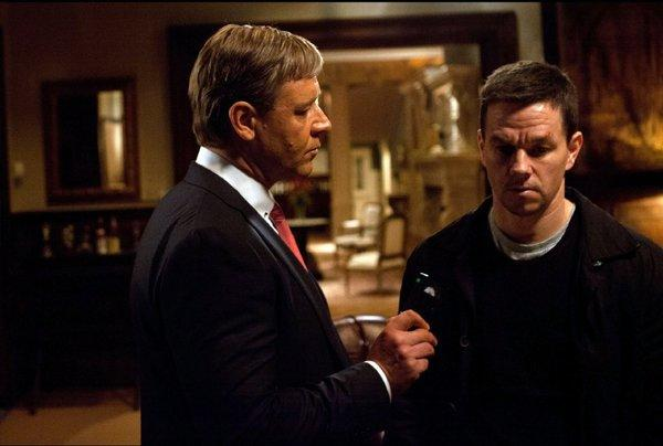 "Russell Crowe may have bad news for Mark Wahlberg regarding the box office for ""Broken City."""